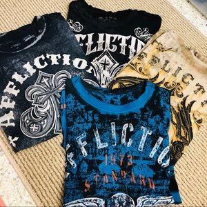 Bundle Affliction men's shirts ‼️